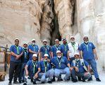 أعضاء الملتقى الكشفي الثامن للقادة الكشفيين يكتشفون جبل القاره بالأحساء