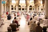 إقامة أول صلاة جمعة بالمسجد النبوي في شهر رمضان المبارك