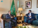 السفير المعلمي يلتقي بمندوب المملكة الأردنية الهاشمية المعين حديثاً لدى الأمم المتحدة