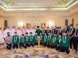 سمو وزير الرياضة يستقبل بعثة المنتخب السعودي للشباب لكرة القدم
