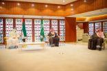 #فيديو  سمو #ولي_العهد يجتمع بسمو ولي عهد #أبوظبي، ويستعرضان العلاقات الأخوية وأوجه التعاون الثنائي ومستجدات الأوضاع الإقليمية والدولية.