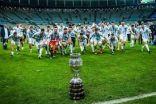 الأرجنتين تتوج ببطولة كأس أمم أمريكا الجنوبية بعد فوزها على البرازيل بهدف دون مقابل